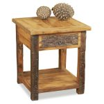 Reclaimed Wood Side Table Style