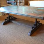 Reclaimed Wood And Metal Dining Table