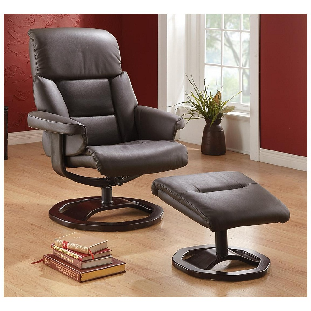 Image of: Recliner and Ottoman Design