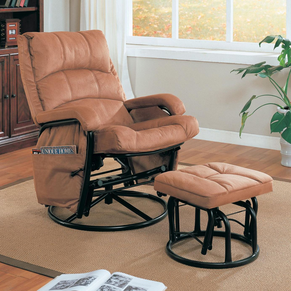 Image of: Recliner and Ottoman Set