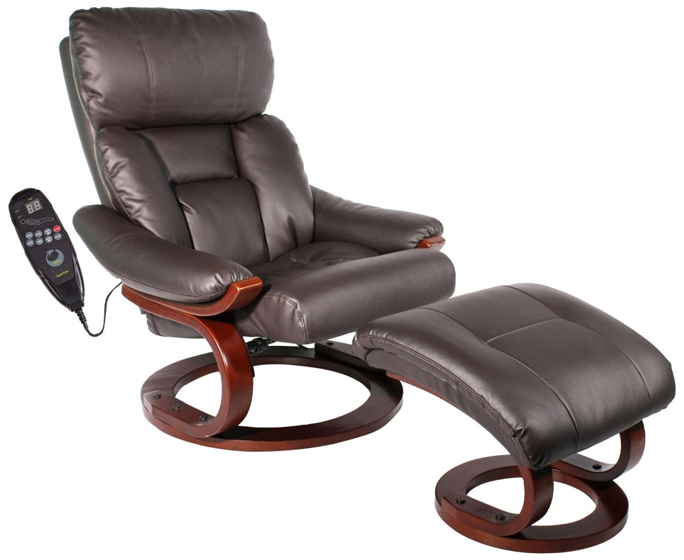 Image of: Recliner and Ottoman with Remote Control