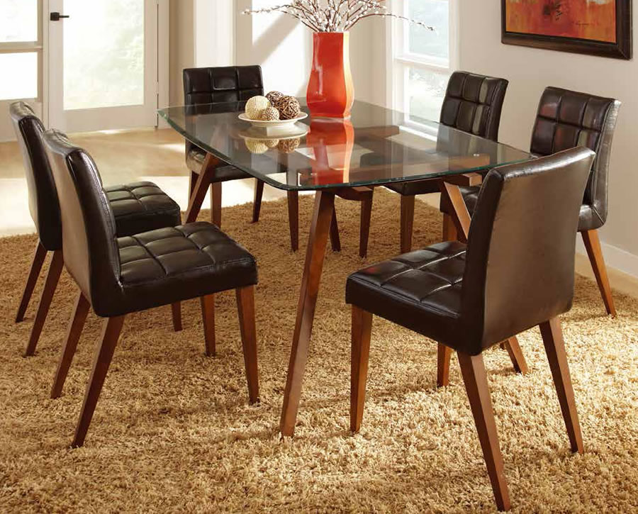 Image of: Rectangle Dining Table Glass
