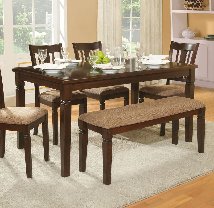 Image of: Rectangle Dining Table with Bench