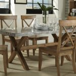 Rectangle Wood And Metal Dining Table