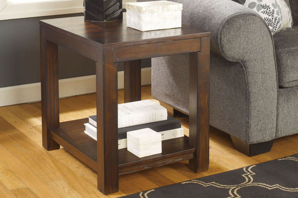 Image of: Rectangular End Table Design