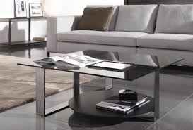 Image of: Rectangular Glass coffee Table Books