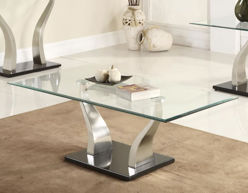 Image of: Rectangular Glass coffee Table Centerpieces