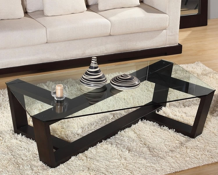 Image of: Rectangular Glass Coffee Tables Decorating