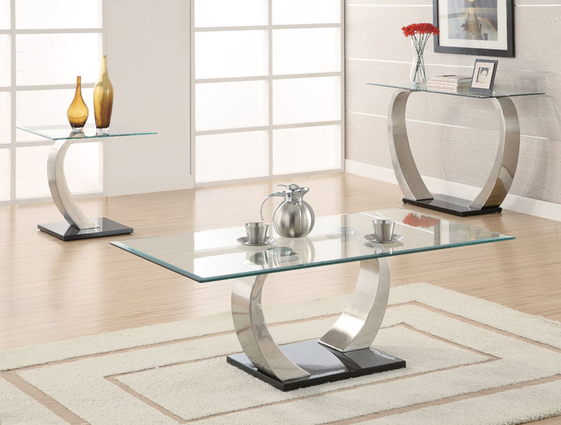 Image of: Rectangular Glass coffee Table Height