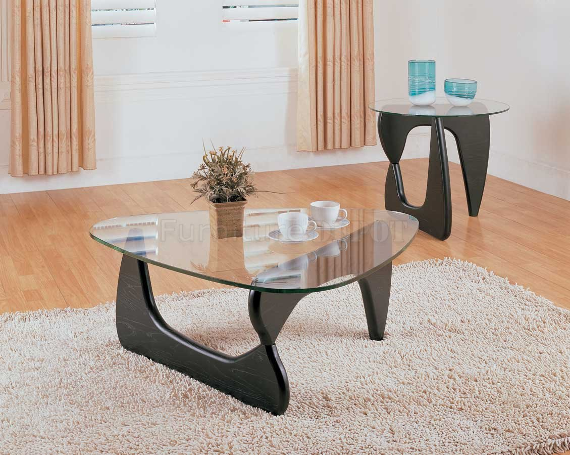 Picture of: Rectangular Glass coffee Table Ottoman