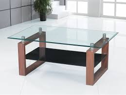 Picture of: Rectangular Glass coffee Table Set