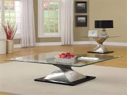 Picture of: Rectangular Glass coffee Table with Storage,