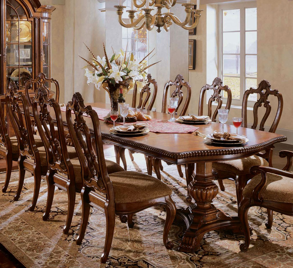 Image of: Rectangular Pedestal Dining Room Table