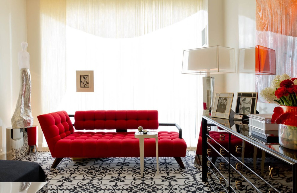 Red Double Chaise Lounge