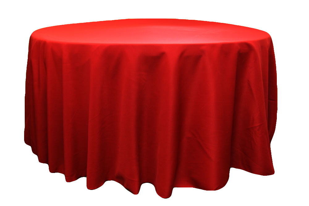 Image of: Red Round Table Clothes