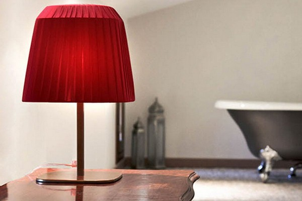 Picture of: Red lamp shades for table lamps