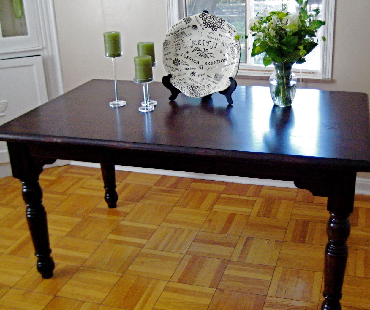 Refinish Dining Room Table Black