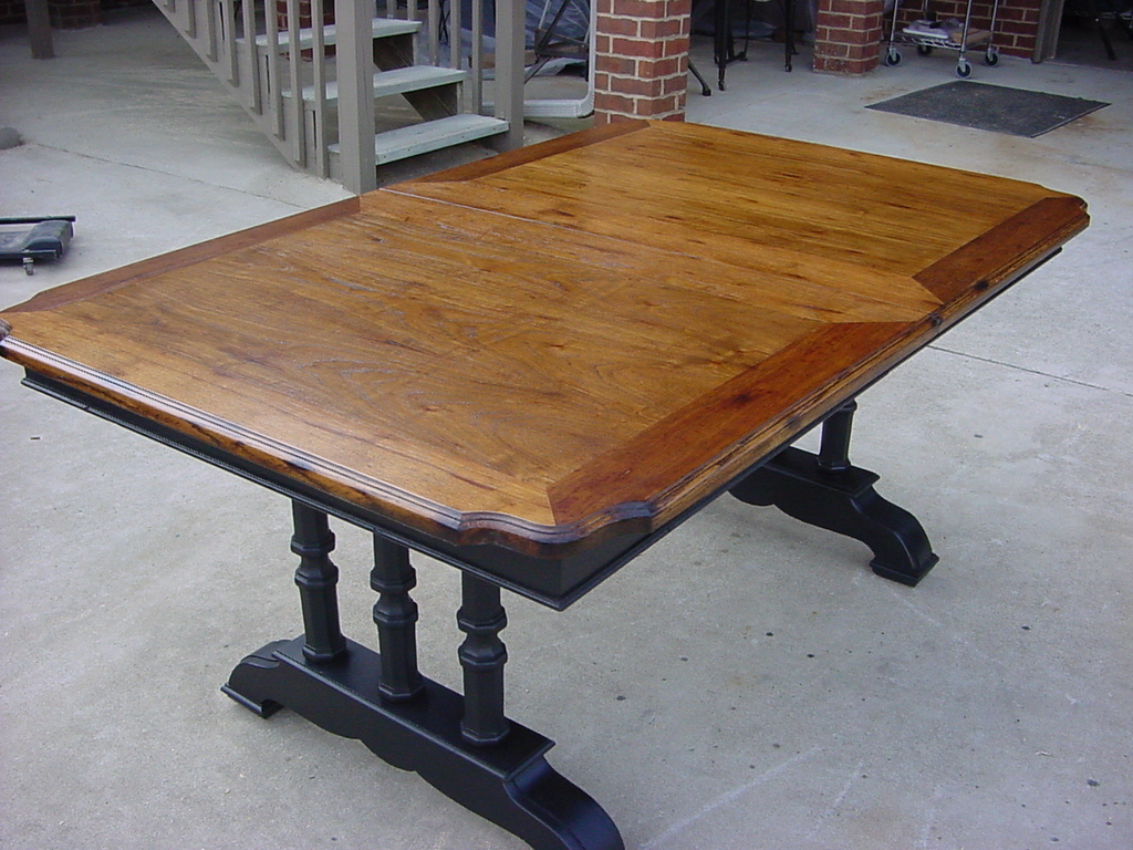 Picture of: Refinish Dining Room Table Oak
