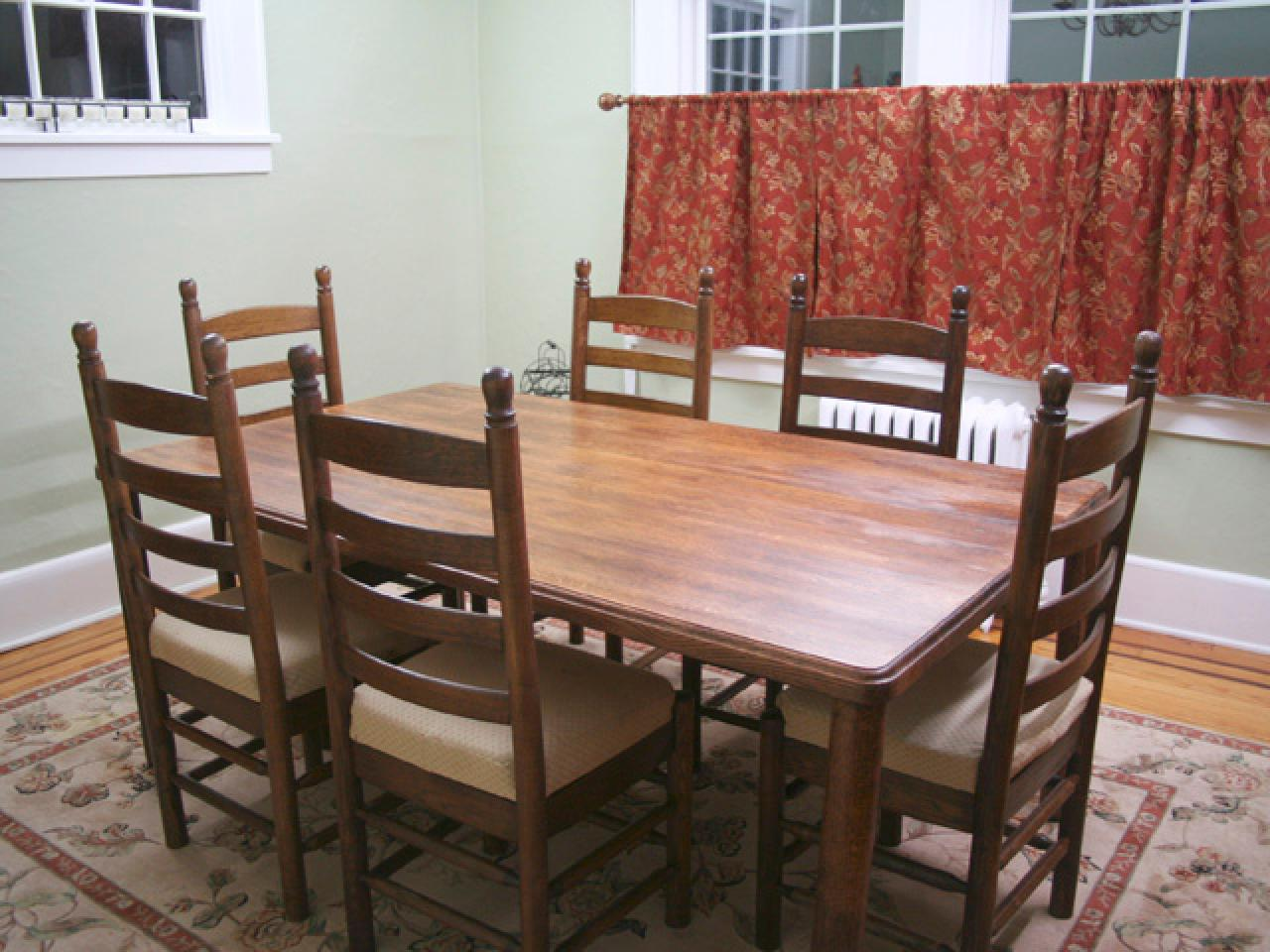 Picture of: Refinish Dining Room Table Old