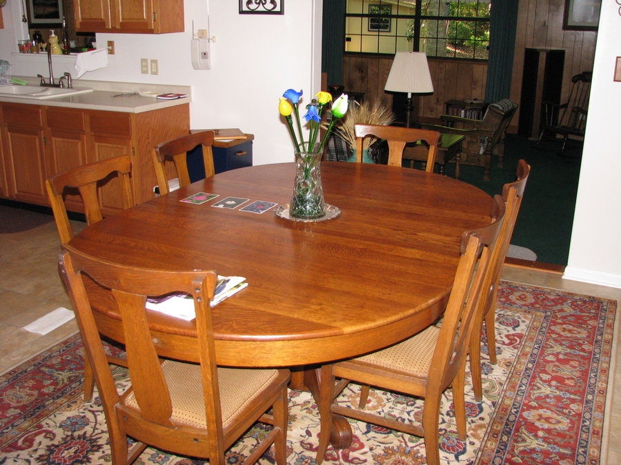 Picture of: Refinish Dining Room Table Round