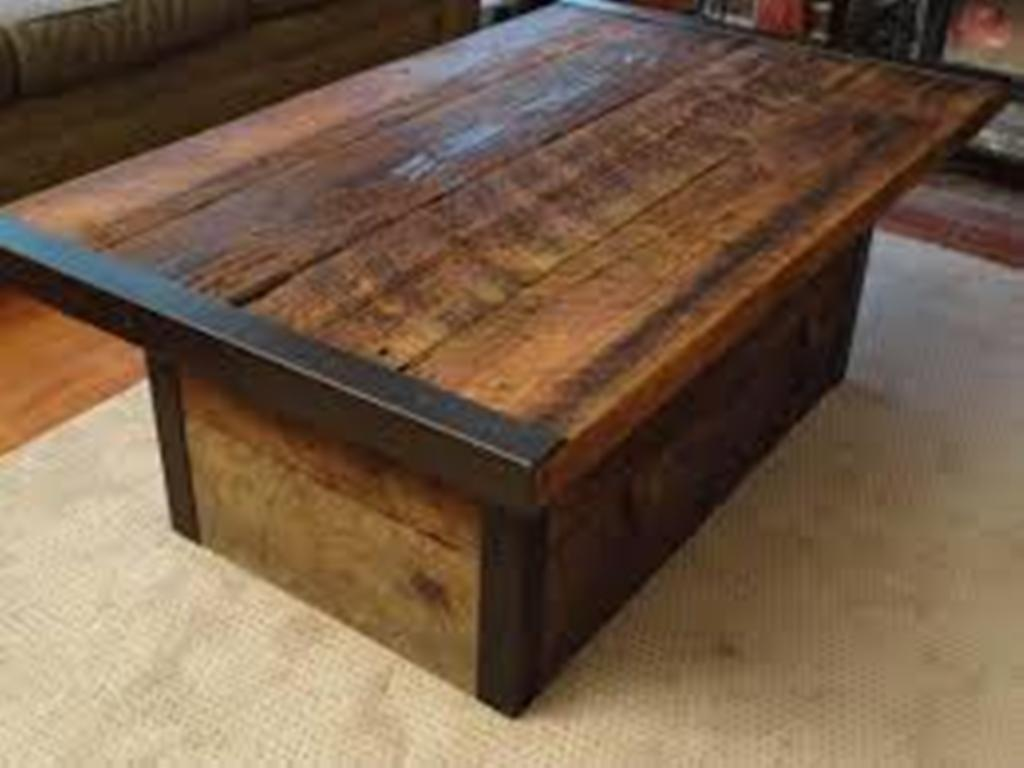 Picture of: restoration hardware coffee table reclaimed wood