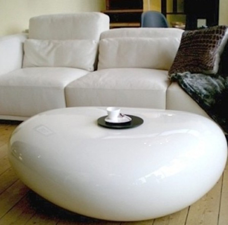Image of: River Stone Coffee Table