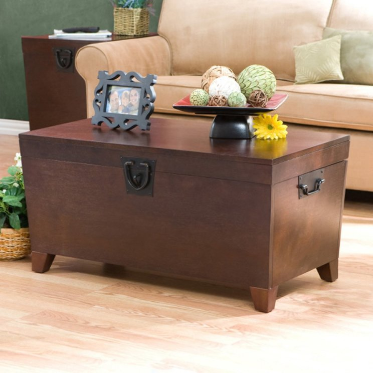 Picture of: Room Design With Trunk Coffee Table