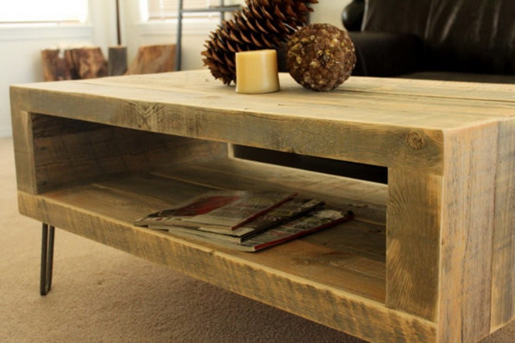 Picture of: round coffee table reclaimed wood