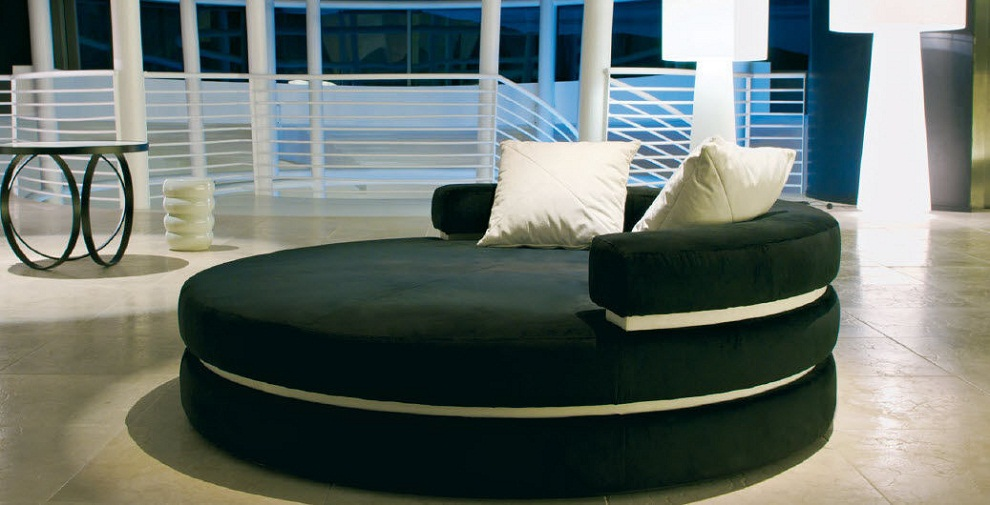 Image of: Round Double Chaise Lounge