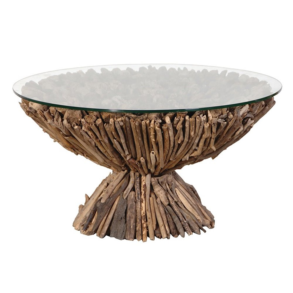 Image of: Round Driftwood Coffee Table
