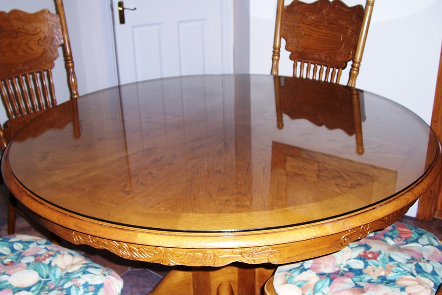 Image of: Round Glass Table Protector