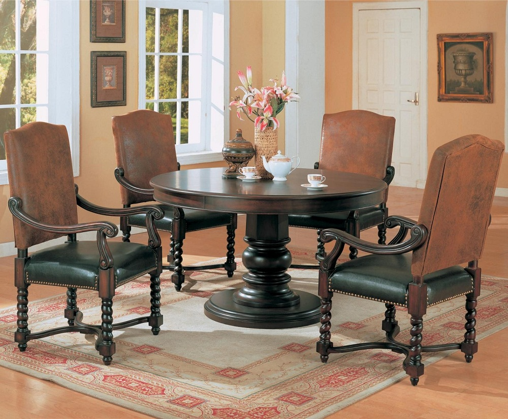 Image of: Round Pedestal Dining Room Table
