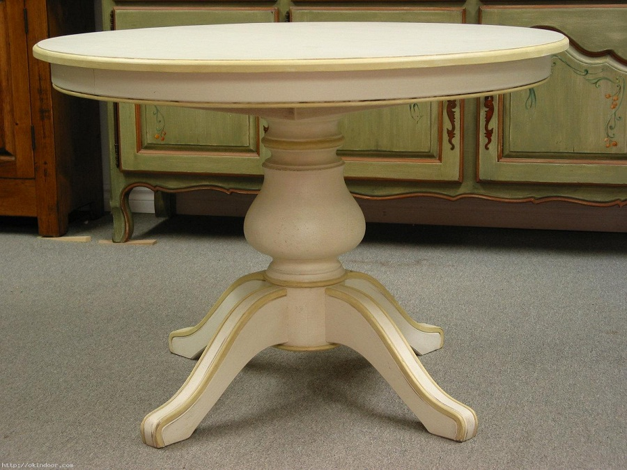 Image of: Round Pedestal Dining Table Color