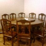Round Reclaimed Wood Dining Table Antique