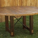 Round Reclaimed Wood Dining Table Simple