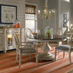 Round Reclaimed Wood Dining Table White