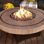 Round Wood Burning Fire Pit Table