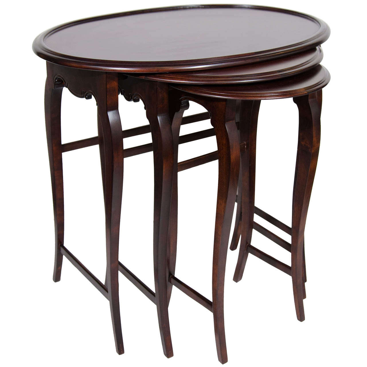 Image of: Round Wood Nesting Tables