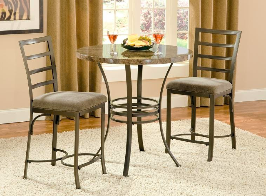 Picture of: Round bistro table wood