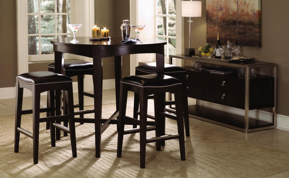 Image of: Round bistro table