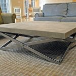 Round cement coffee table