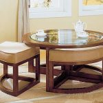 Round Cocktail Table With Fitted Stretch Tablecloth