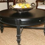 Round Cocktail Table With Storages
