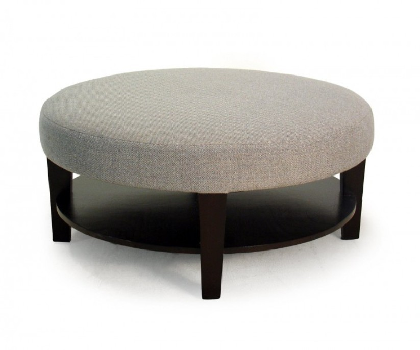 Image of: Round end tables with glass top