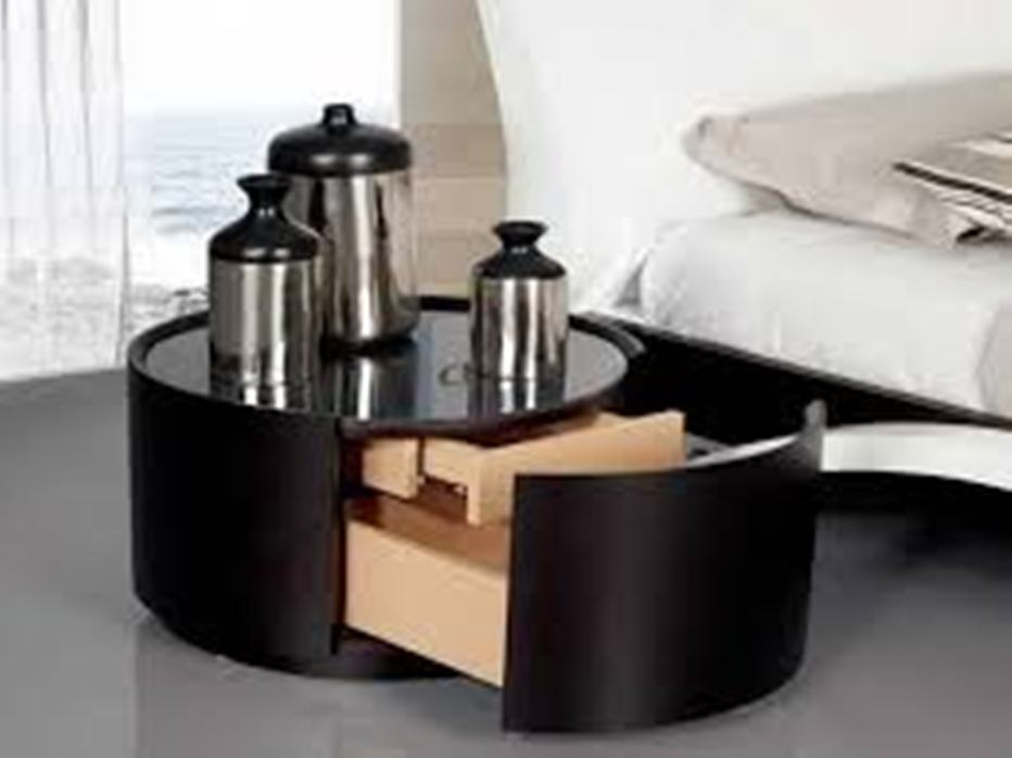 Image of: Round end tables with storage