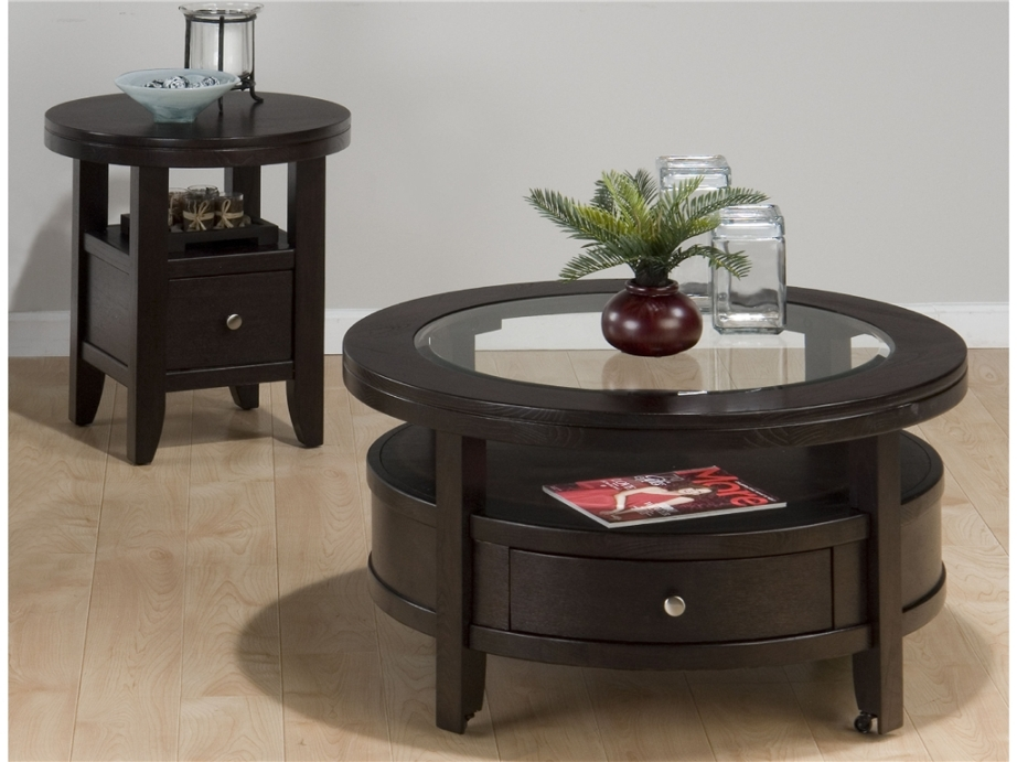 Image of: Round end tables