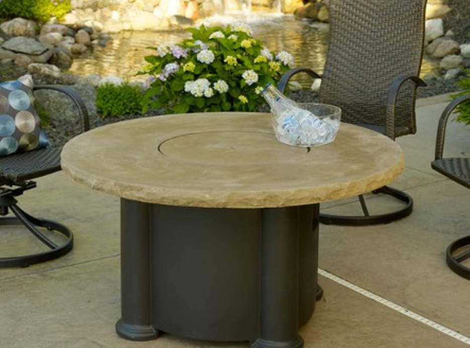 Picture of: Round Fire Pit Table And Chair