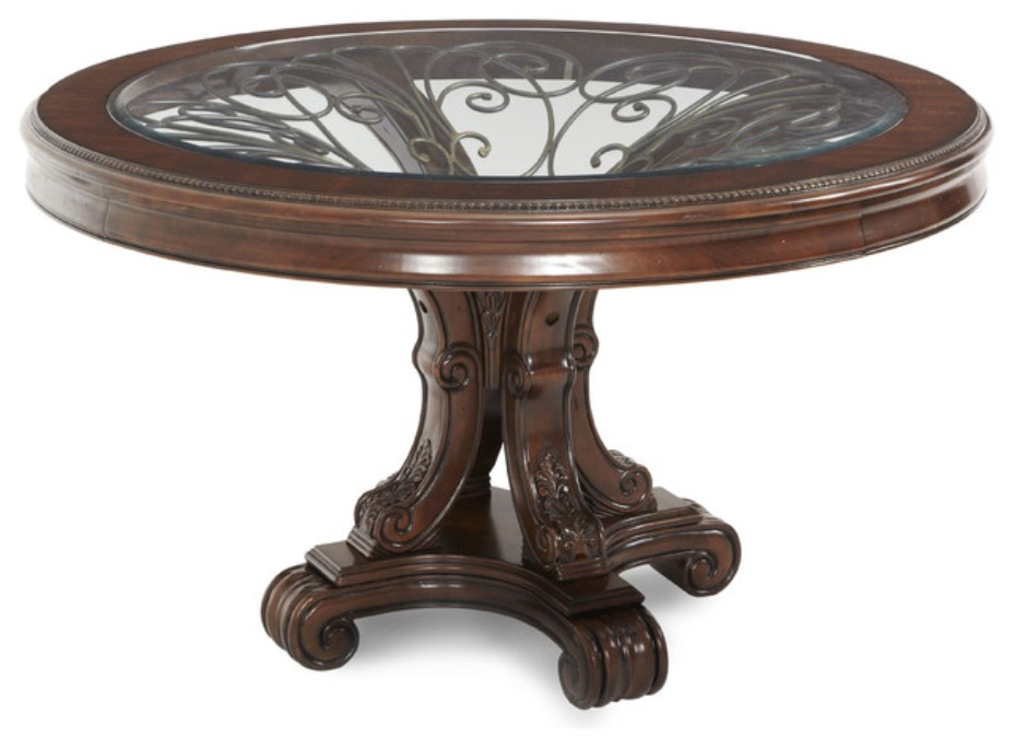 Image of: Round foyer table
