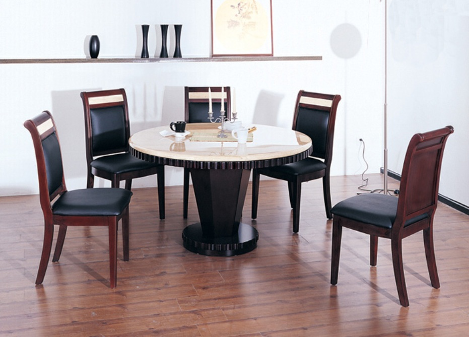 Image of: Round marble top dining table manufacturers
