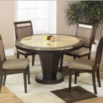 Round Marble Top Dining Table With Lazy Susan
